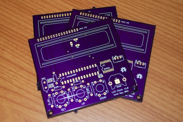 Arduino LCD Clock PCBs Arrived! | Kevin Rye net - Main